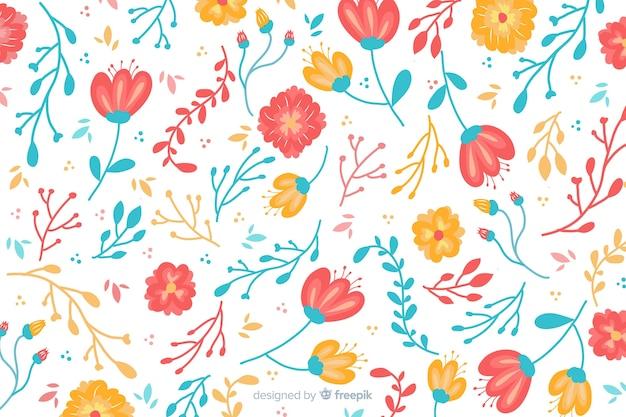 Естественный фон с рисованной цветами