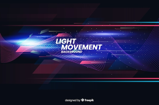 抽象的な形と光の動きの背景