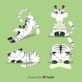 Коллекция рисованной дикого тигра