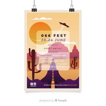 Плакат музыкального фестиваля градиента иллюстрации