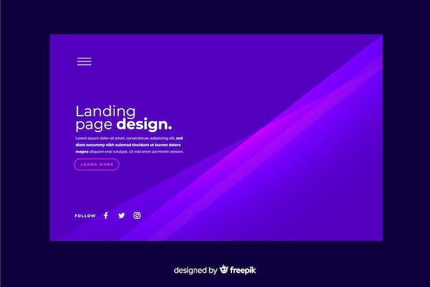 抽象的なグラデーションランディングページテンプレート