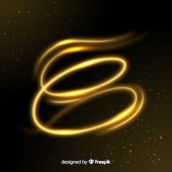 Элегантный блестящий эффект золотой спирали
