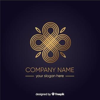 黄金のエレガントなビジネスのロゴのテンプレート