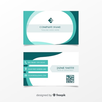 Шаблон визитной карточки с абстрактными фигурами с абстрактными фигурами