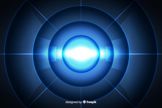 抽象的な技術的な光のトンネルの背景