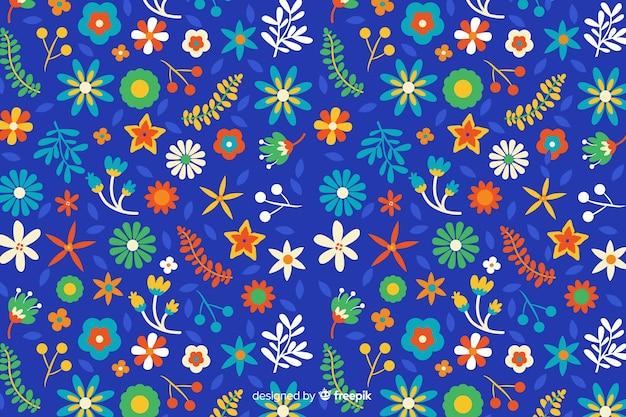 色とりどりの花で自然な背景