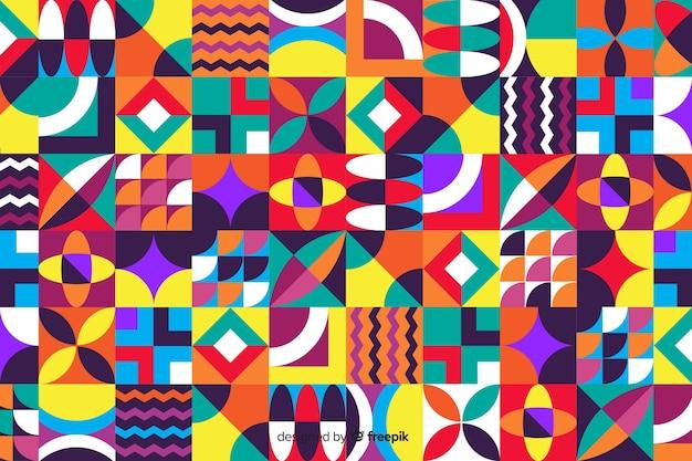 Красочные геометрические фигуры мозаика фон