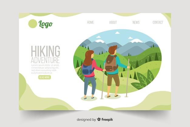 Шаблон целевой страницы для активного отдыха