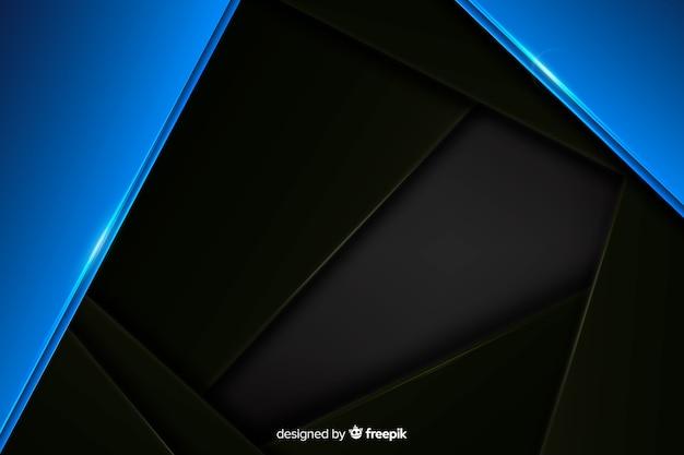 反射と抽象的な青い金属の背景