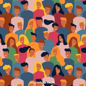 若い人たちのカラフルなパターン