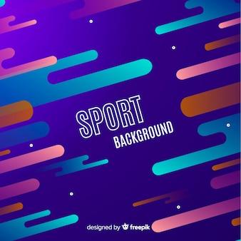 抽象的なスポーツバックグラウンドフラットスタイル