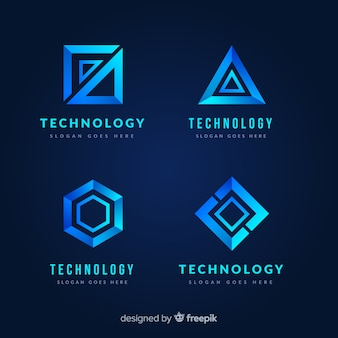 グラデーション技術のロゴのテンプレートコレクション