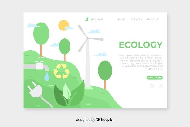 Шаблон целевой страницы плоской экологии