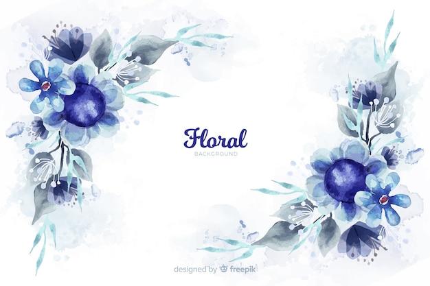 水彩画の花と自然の背景