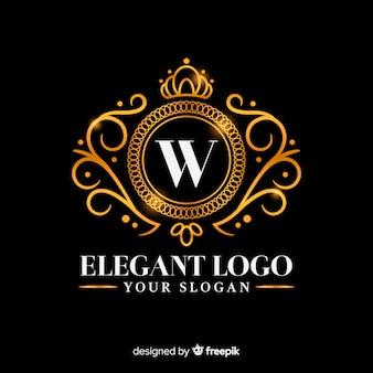 黄金のエレガントなロゴのテンプレート