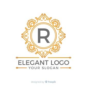 Золотой элегантный шаблон логотипа