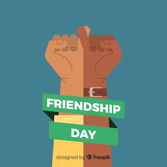 友情日フラットデザインの背景