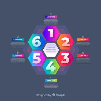 Пакет красочных инфографики плоский дизайн