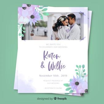Свадебное приглашение с фото