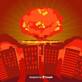 都市の平らな核爆弾