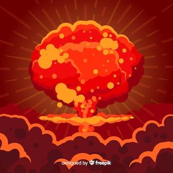 Эффект ядерной бомбы плоский стиль