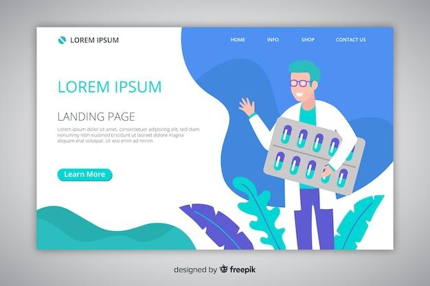 Шаблон целевой страницы интернет-аптеки