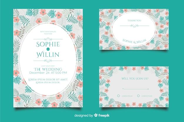 Коллекция шаблонов плоские свадебные канцтовары
