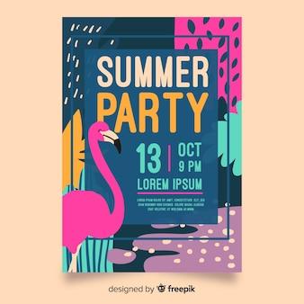 Нарисованный рукой плакат летней вечеринки