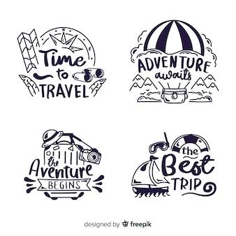 Коллекция туристических надписей