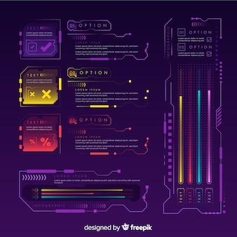 モダンな未来的なインフォグラフィック要素のコレクション