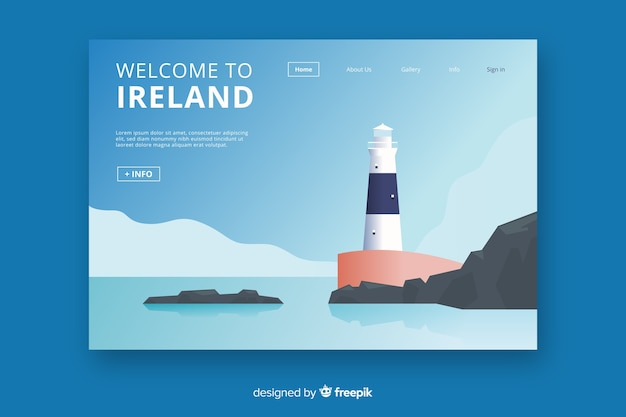 Добро пожаловать на целевую страницу ирландии