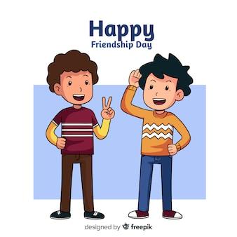 手描きの友情日の背景