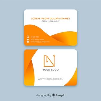 Шаблон визитной карточки жидких форм