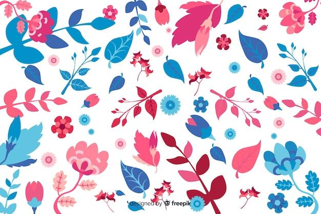 Цветочный фон рисованной стиль