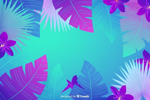 カラフルな花の背景フラットスタイル