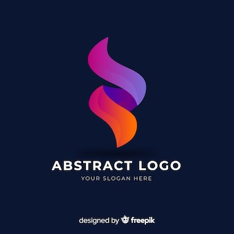 グラデーション抽象的な会社のロゴのテンプレート