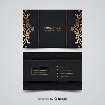 Золотой элегантный шаблон визитной карточки