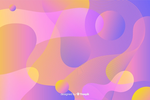 抽象的なカラフルな流れる図形の背景