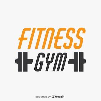 Плоский дизайн фитнес логотип шаблон