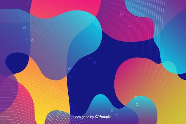 抽象的なカラフルなフロー図形の背景