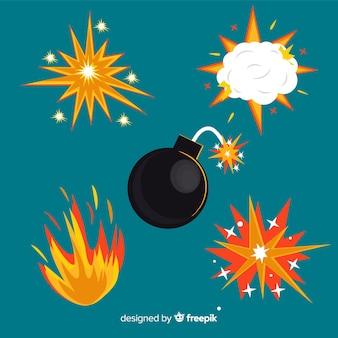 爆弾パックと爆発効果