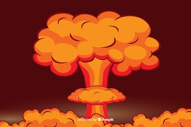 核爆発イラスト漫画のスタイル
