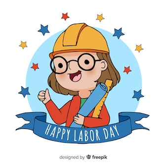 手描き労働日の背景