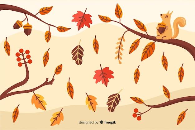 ビンテージ秋の背景ビンテージスタイル