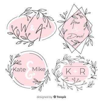 結婚式のモノグラムロゴのパック