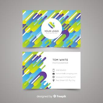 Шаблон визитной карточки абстрактный шаблон