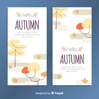 手描き秋バナーテンプレート