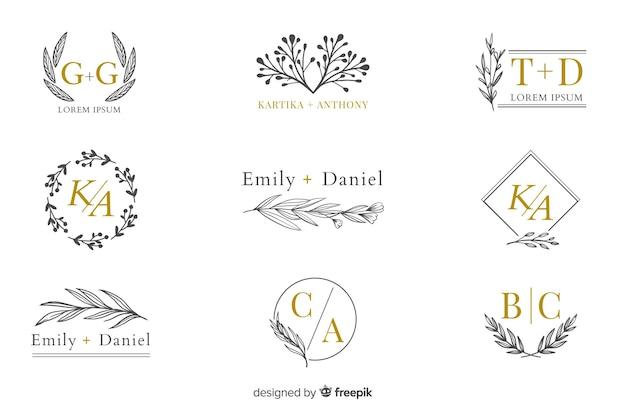 Коллекция свадебных вензелей, логотипов