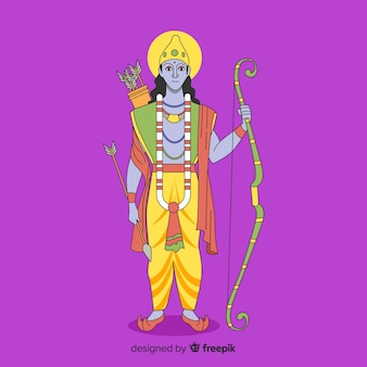 矢印と弓を持つ主ラーマ