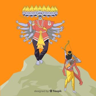 主ラーマとラヴァーナの性格